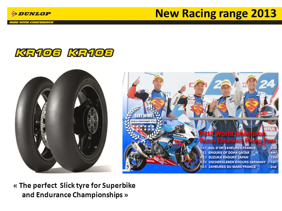 « The perfect Slick tyre for Superbike and Endurance Championships »