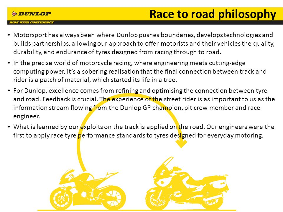 Race to road philosophy