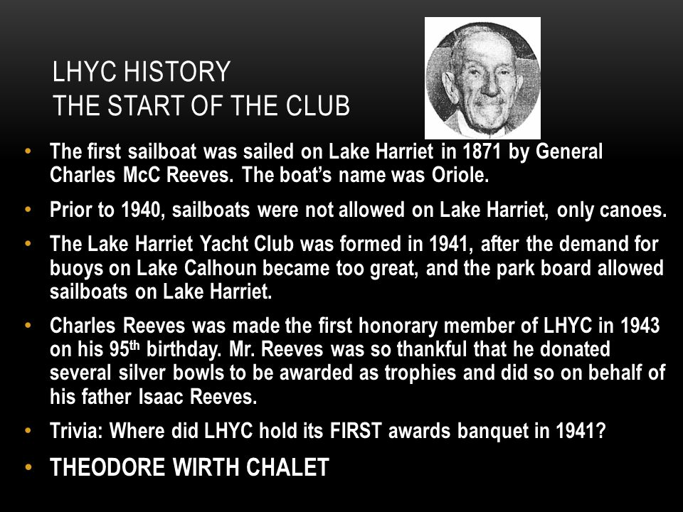 LHYC HistorY The Start of the Club