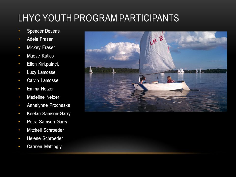 LHYC Youth Program Participants
