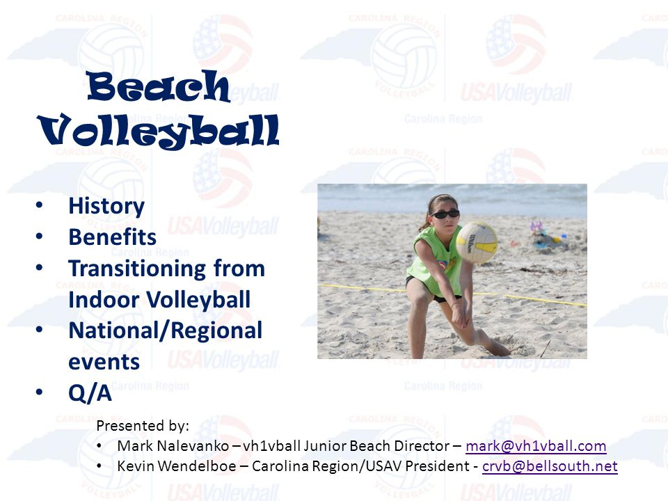 Beach Volleyball History Benefits Transitioning from Indoor Volleyball