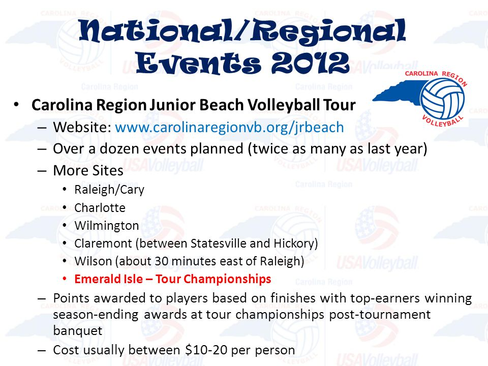 National/Regional Events 2012