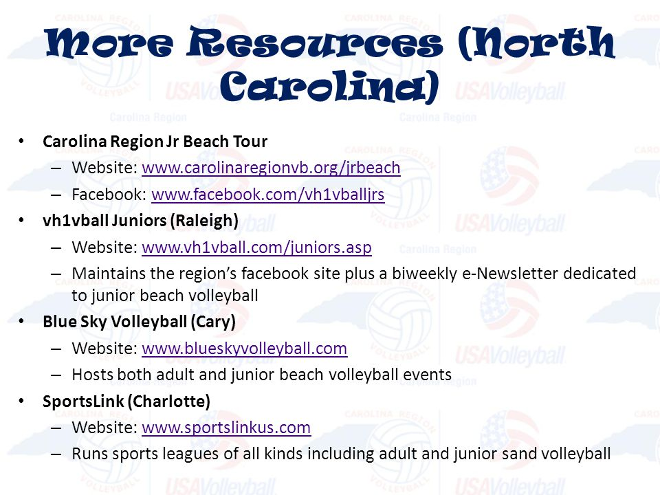 More Resources (North Carolina)
