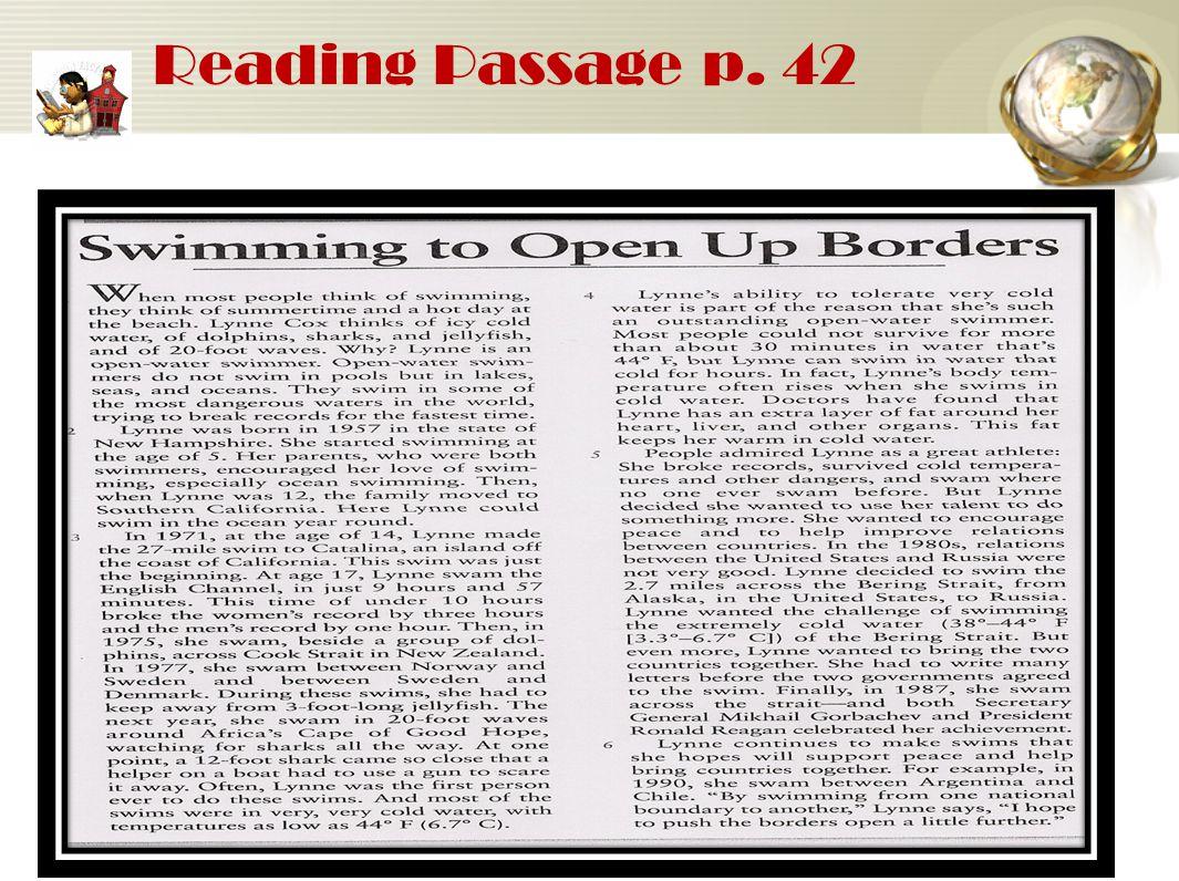 Reading Passage p. 42