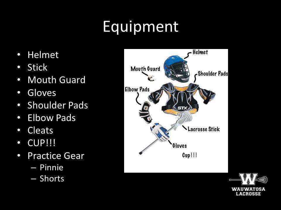 Equipment Helmet Stick Mouth Guard Gloves Shoulder Pads Elbow Pads