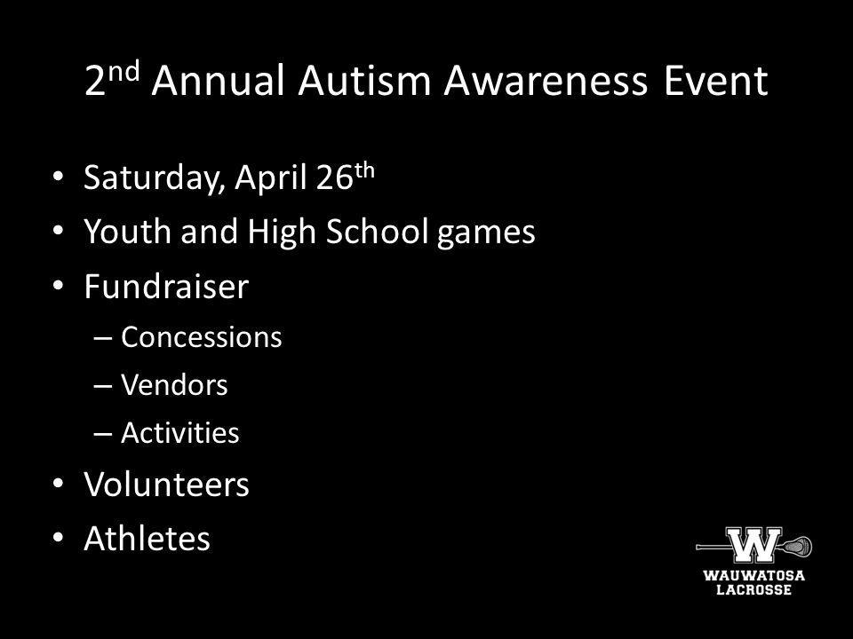 2nd Annual Autism Awareness Event