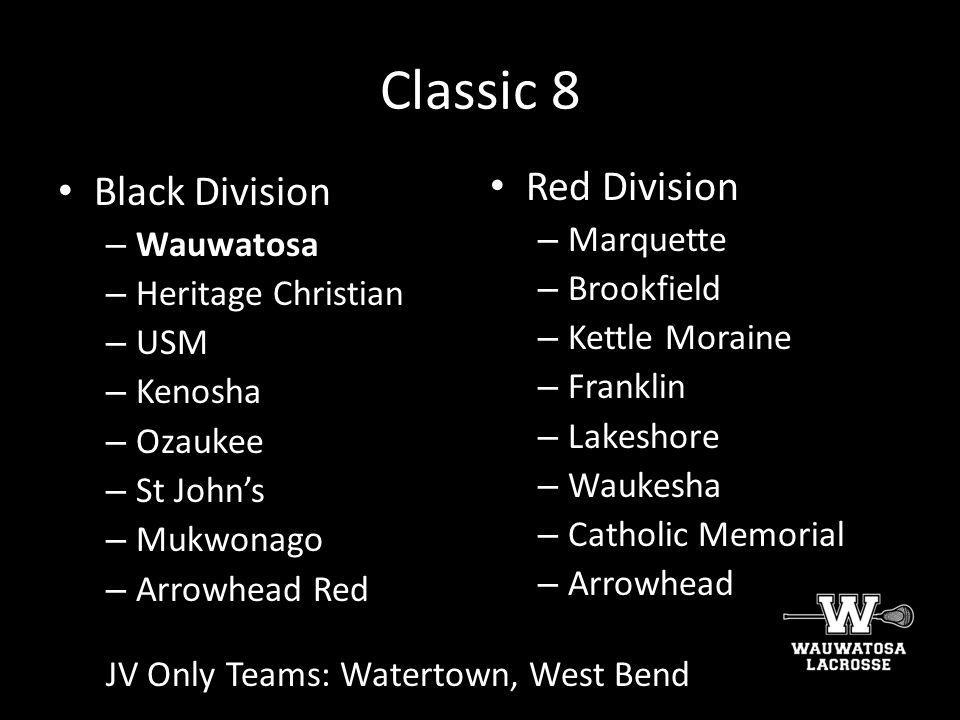 Classic 8 Black Division Red Division Wauwatosa Marquette