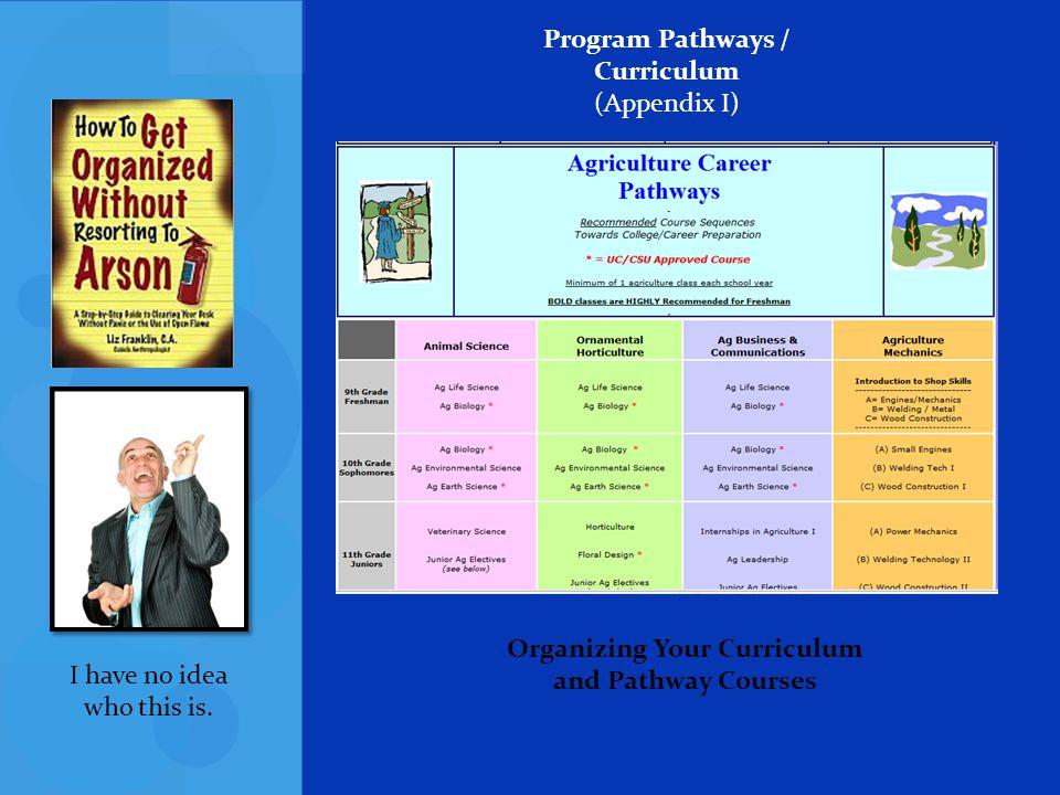 Program Pathways / Curriculum (Appendix I)