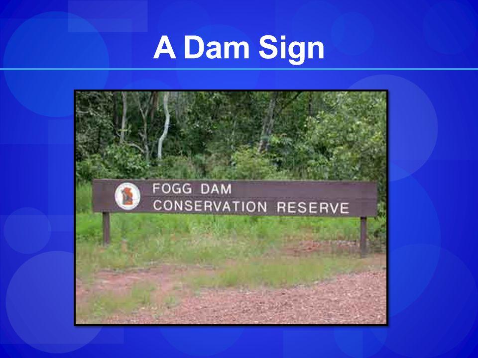 A Dam Sign