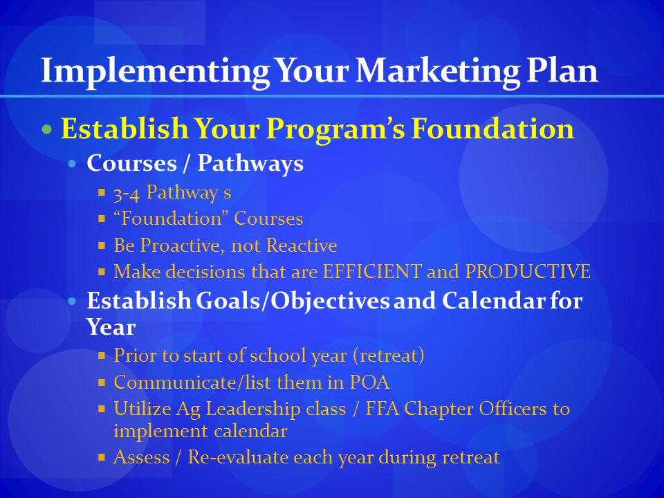 Implementing Your Marketing Plan