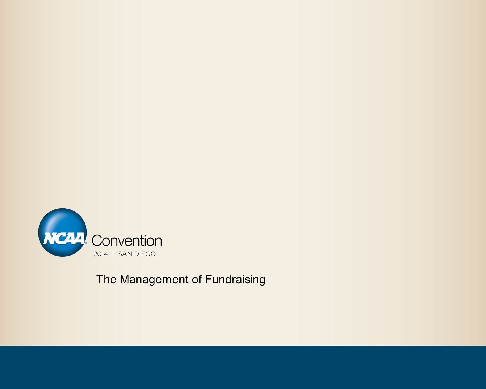The Management of Fundraising