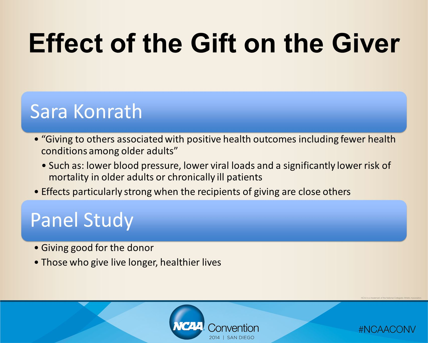 Effect of the Gift on the Giver