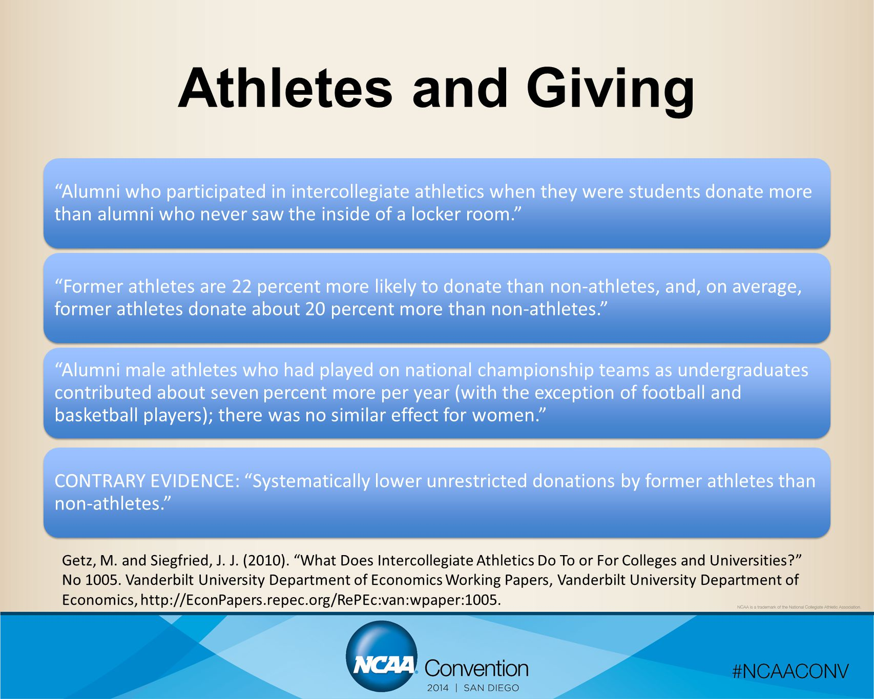 Athletes and Giving