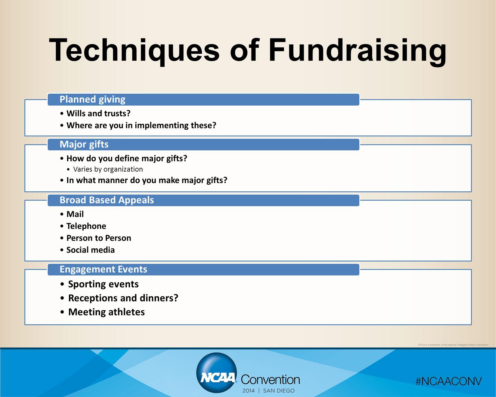 Techniques of Fundraising