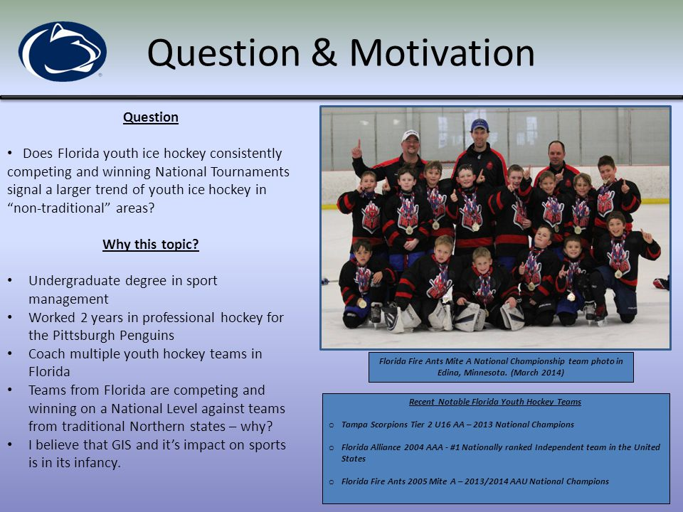 Recent Notable Florida Youth Hockey Teams