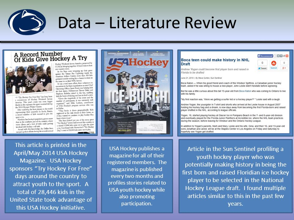 Data – Literature Review