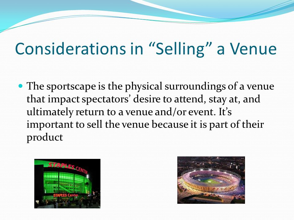 Considerations in Selling a Venue
