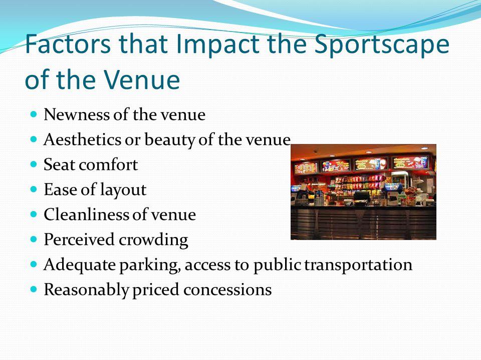 Factors that Impact the Sportscape of the Venue