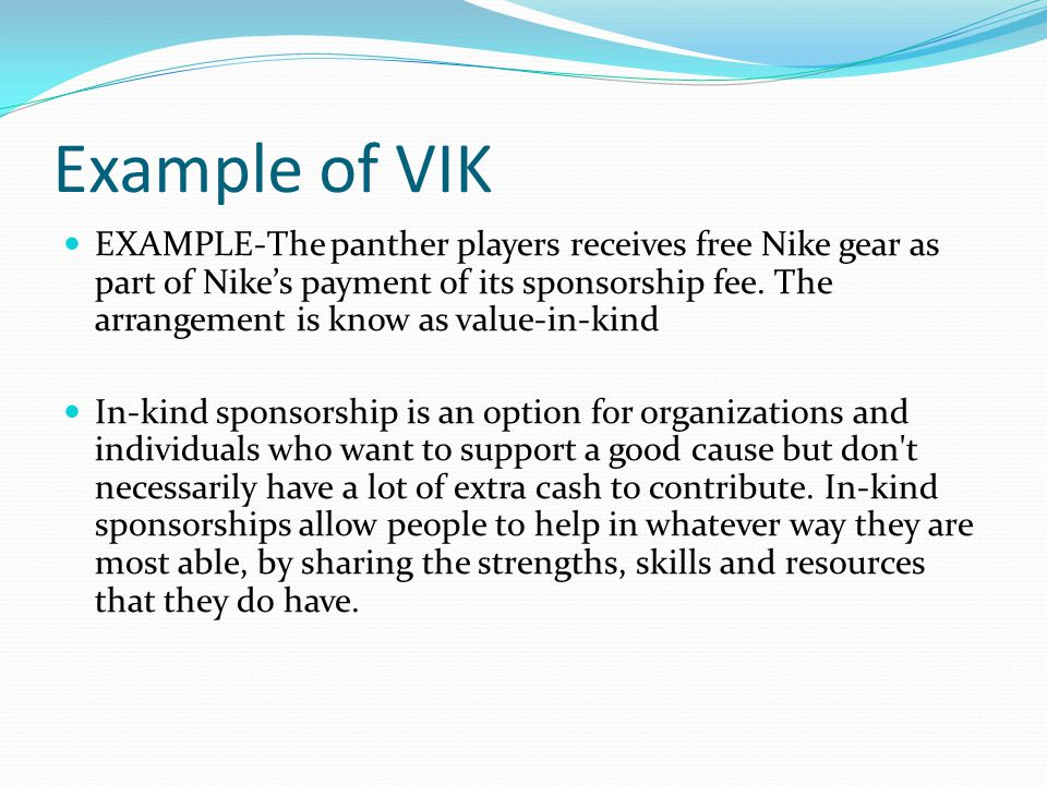 Example of VIK