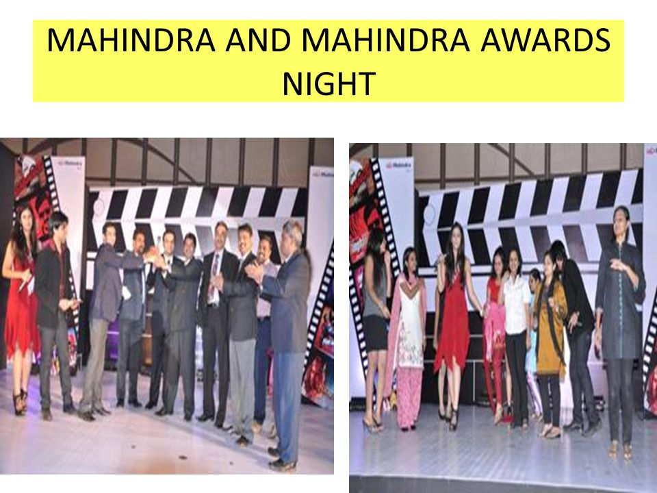 MAHINDRA AND MAHINDRA AWARDS NIGHT
