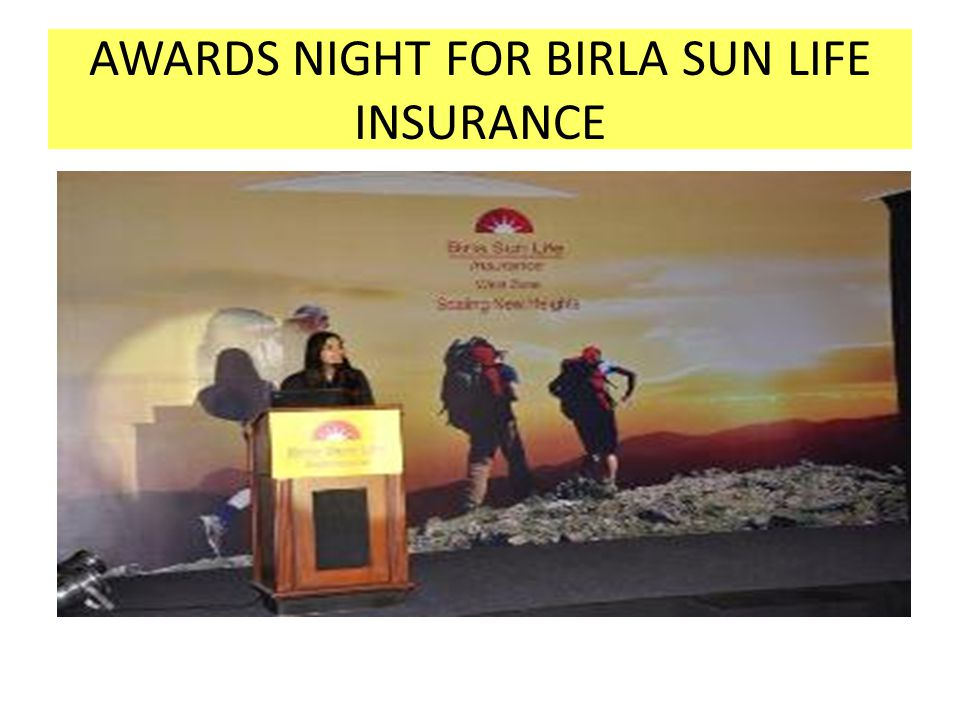 AWARDS NIGHT FOR BIRLA SUN LIFE INSURANCE