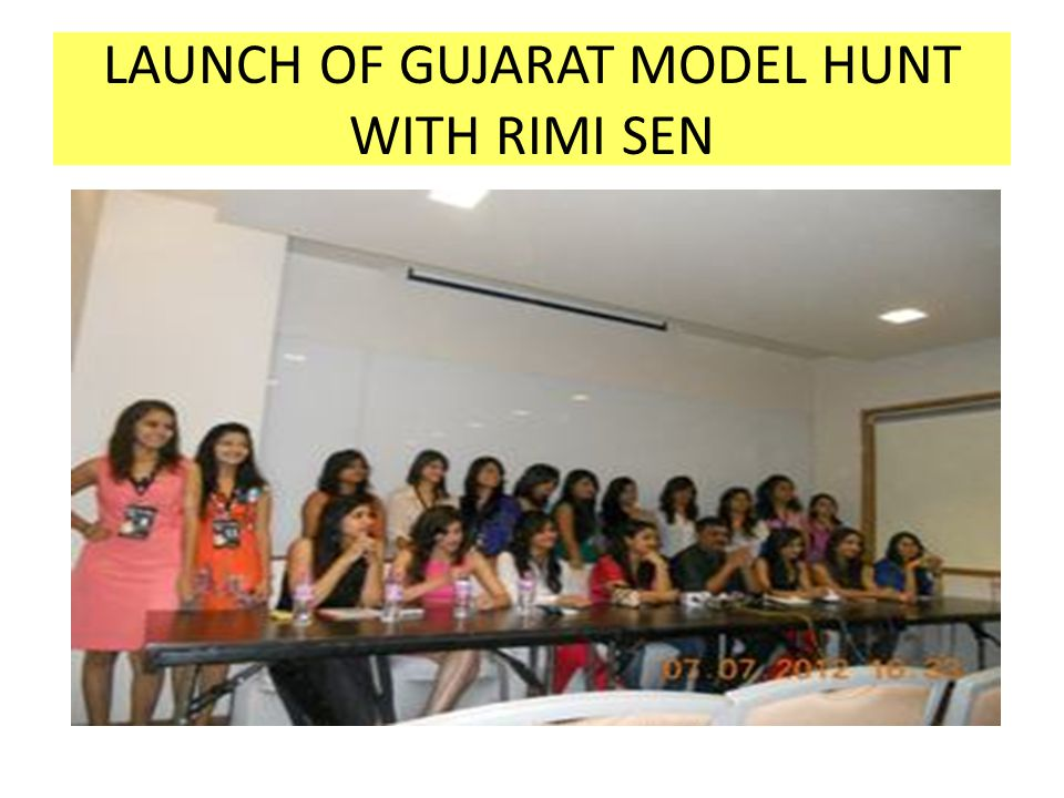 LAUNCH OF GUJARAT MODEL HUNT WITH RIMI SEN