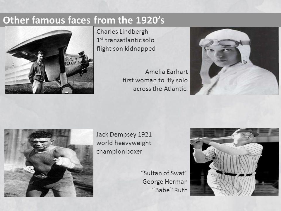 Other famous faces from the 1920's