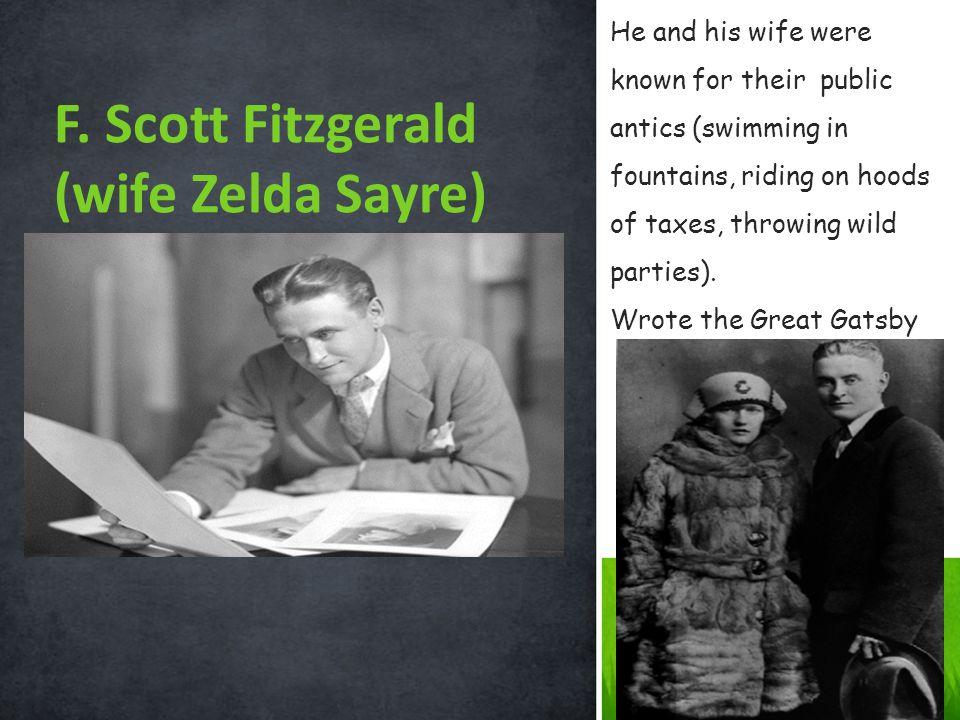 F. Scott Fitzgerald (wife Zelda Sayre)