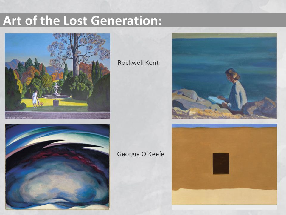 Art of the Lost Generation:
