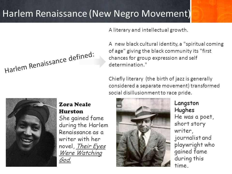 Harlem Renaissance (New Negro Movement)