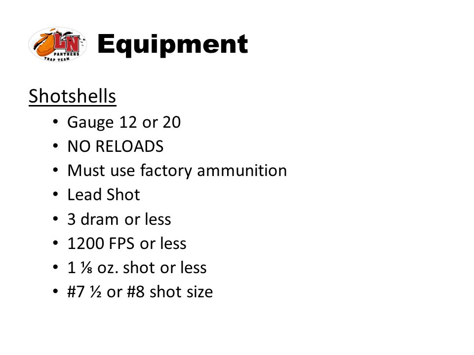 Equipment Shotshells Gauge 12 or 20 NO RELOADS