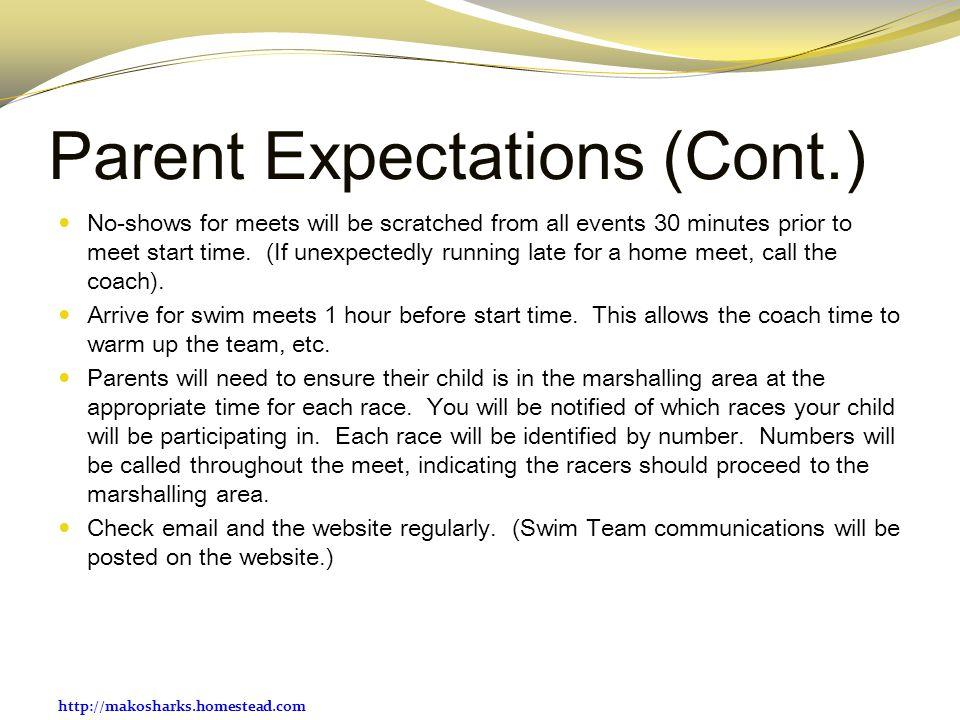 Parent Expectations (Cont.)