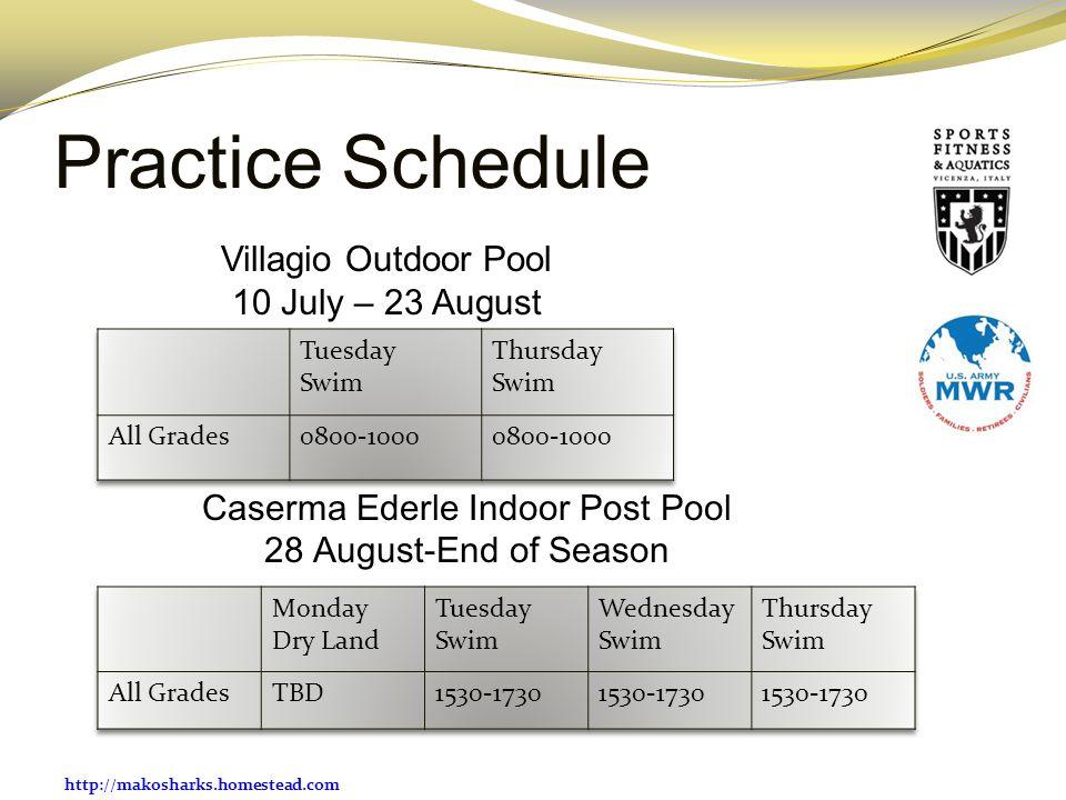 Caserma Ederle Indoor Post Pool 28 August-End of Season