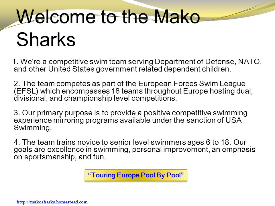 Welcome to the Mako Sharks