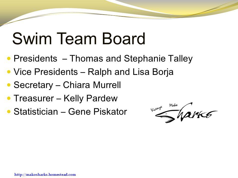 Swim Team Board Presidents – Thomas and Stephanie Talley