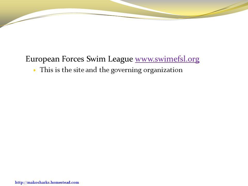 European Forces Swim League www.swimefsl.org