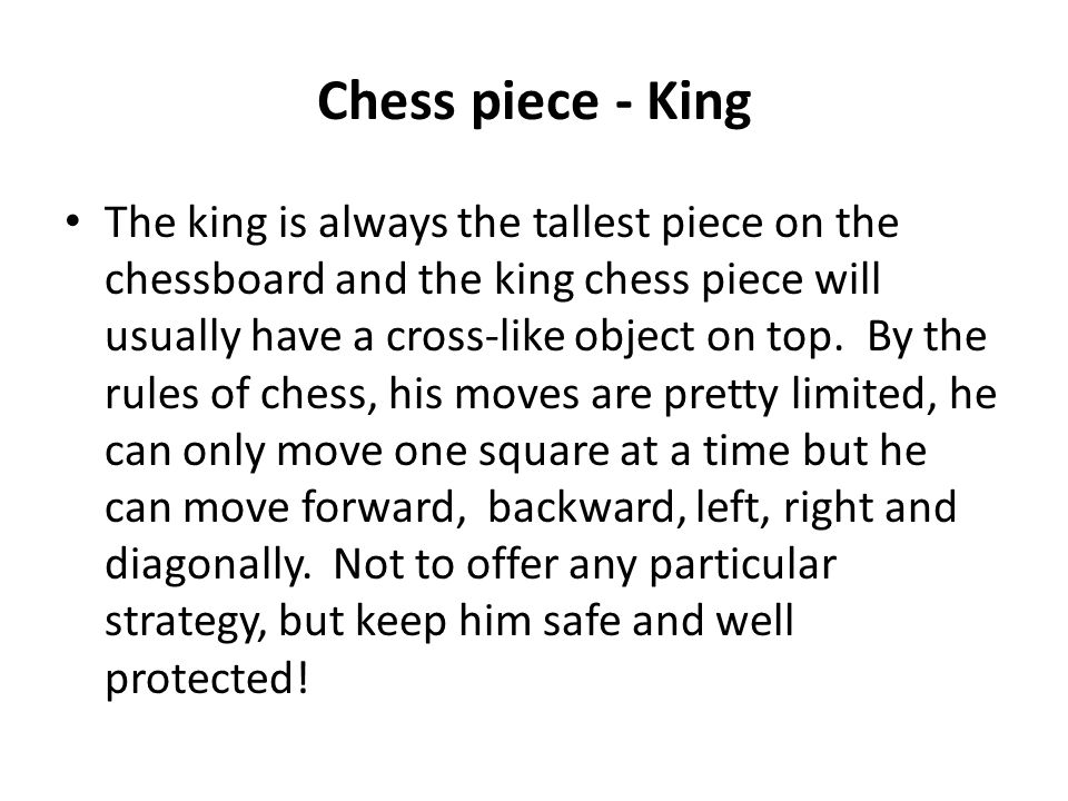 Chess piece - King