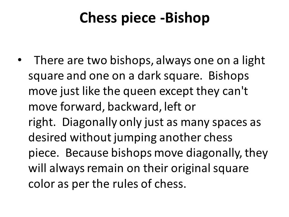 Chess piece -Bishop