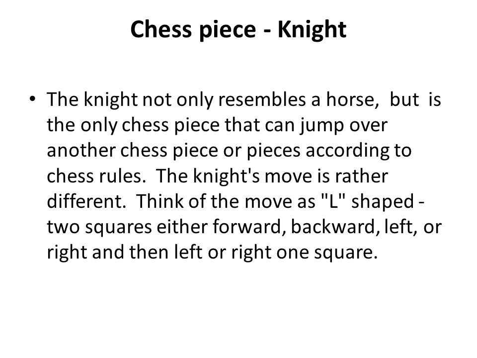 Chess piece - Knight