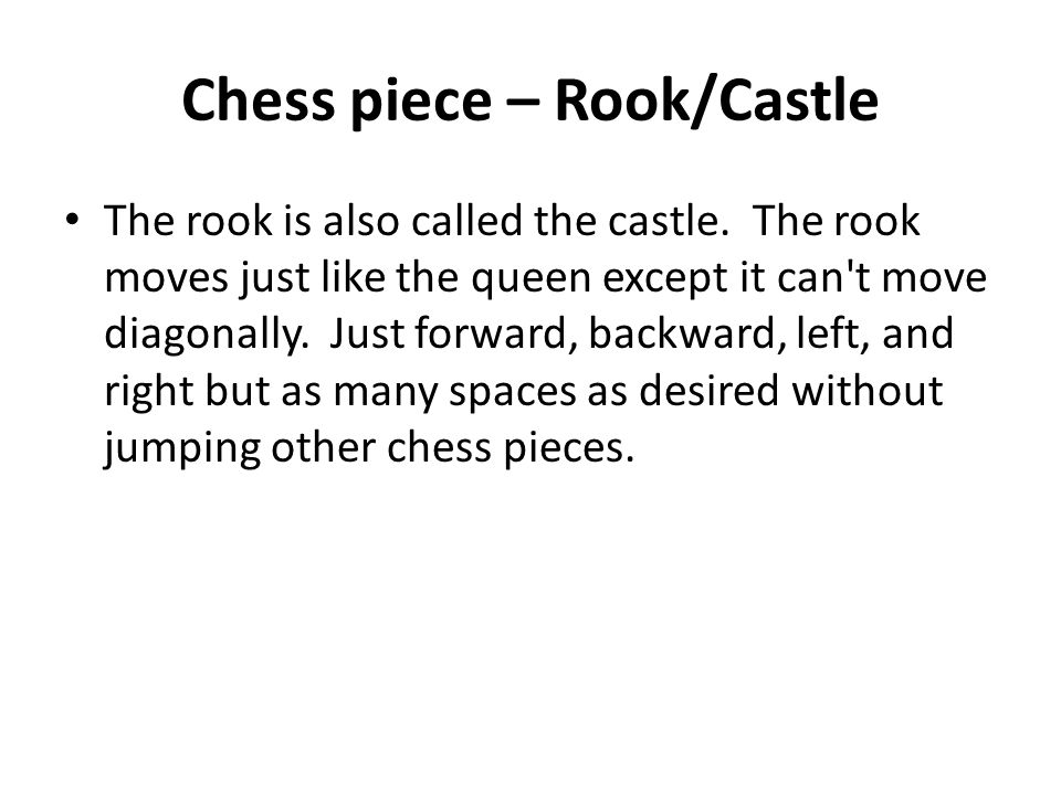 Chess piece – Rook/Castle