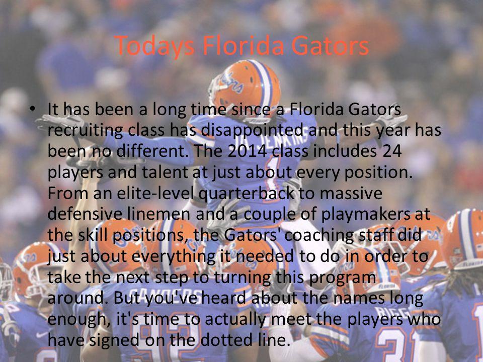 Todays Florida Gators