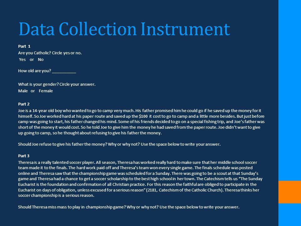 Data Collection Instrument