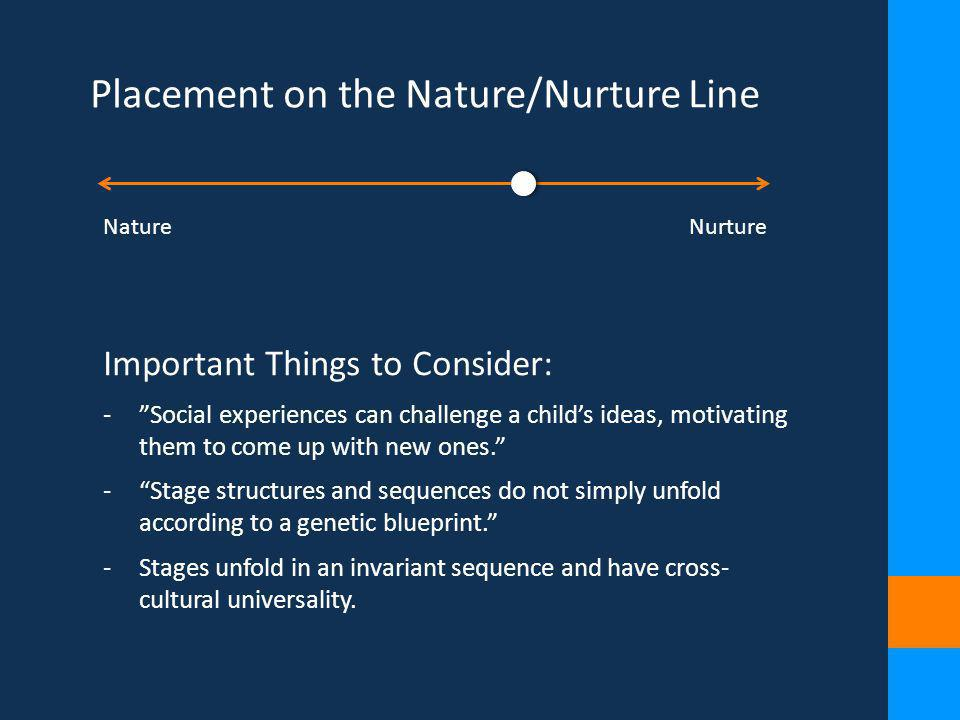 Placement on the Nature/Nurture Line