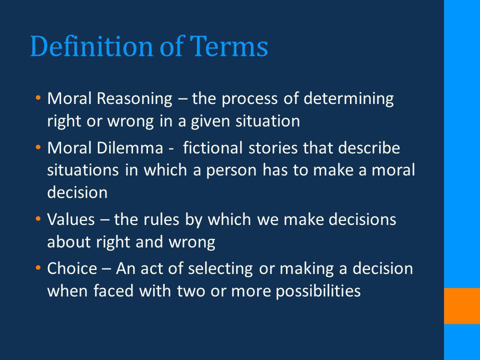 individual moral development or by the Kohlberg's stages of moral development since everything is relative, each person is free to pursue his or her individual interests.