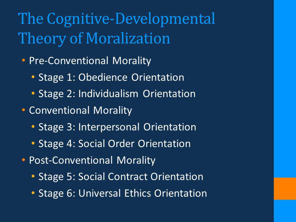 The Cognitive-Developmental Theory of Moralization