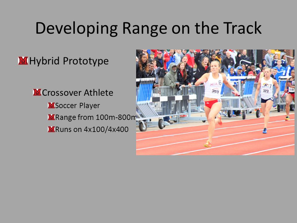 Developing Range on the Track