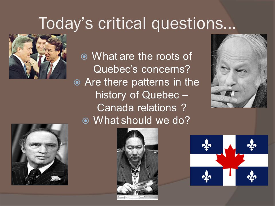 Today's critical questions…