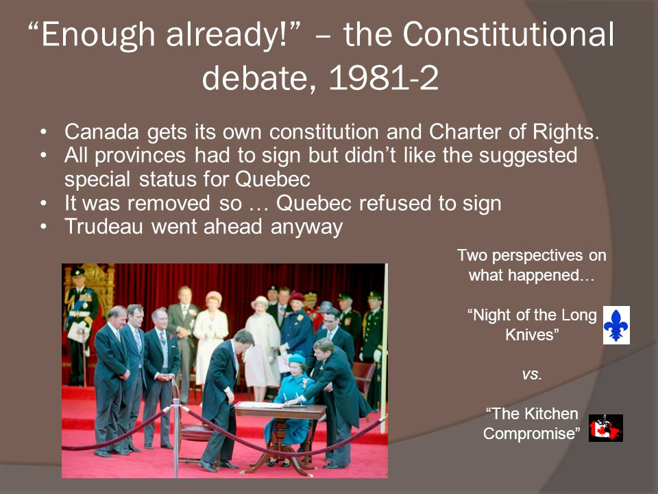 Enough already! – the Constitutional debate, 1981-2