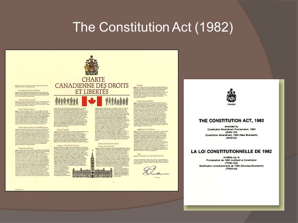 The Constitution Act (1982)