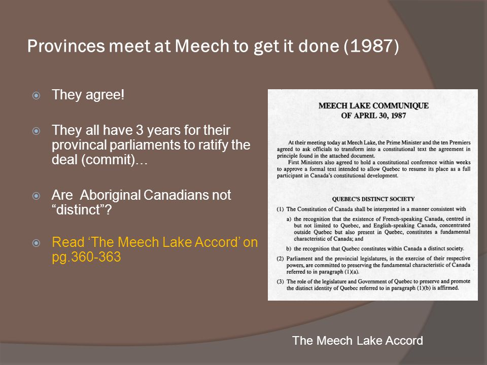 Provinces meet at Meech to get it done (1987)